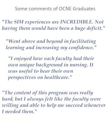 Selected comments from OCNE Graduates